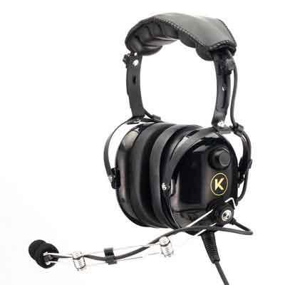 KORE AVIATION P1 Series PNR Pilot Aviation Headset - Black