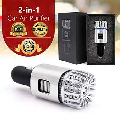 IMPROVED Version | PREMIUM Car Ionizer Fresh Air Purifier | Remove Cigarettes Smell