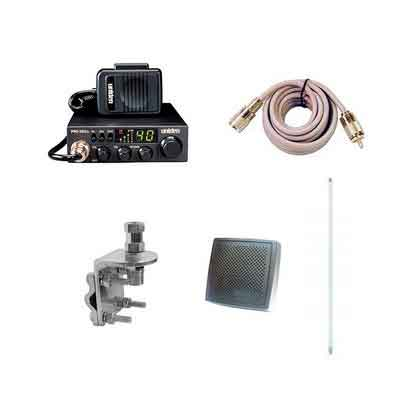 Pro Trucker Complete CB Radio Kit Includes Radio