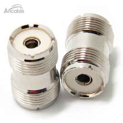 Ancable UHF PL-259 Female to UHF PL-259 Female Coaxial Adaptor Connector Coupler Joiner for CB Ham Radio Antenna Pack of 2
