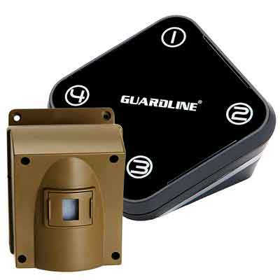 Guardline Wireless Driveway Alarm- Top Rated Outdoor Weatherproof Motion Sensor & Detector- Best DIY Security Alert System- Stay Safe & Protect Home