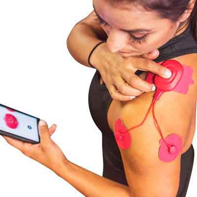 POWERDOT Wireless Muscle Stimulator - UNO - Red - Phone Controlled EMS for Targeted Muscle...