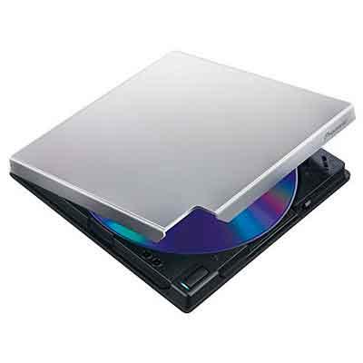 Pioneer Electronics USA Slim External Blu Ray Drive BDR-XD05S Silver