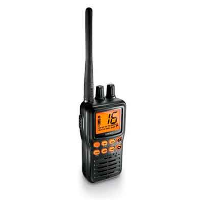 Uniden MHS75 Handheld Submersible 2-Way 5W VHF Marine Radio - Black