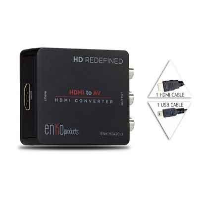 enKo Products Mini Composite HDMI To RCA CVBS AV Converter