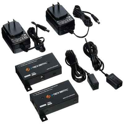 J-Tech Digital Hdmi Extender By Single Cat 5E/6/7 up to 200ft with IR support