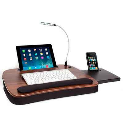 Sofia + Sam Multi Tasking Memory Foam Lap Desk with USB Light