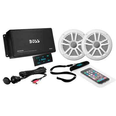 BOSS Audio ASK902B.6 Marine 500 Watt 4 Channel Amplifier / 6.5 Inch Speaker Bluetooth System