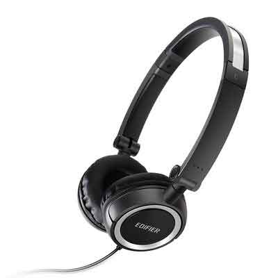 Edifier H650 Hi-Fi On-Ear Headphones - Noise-isolating Foldable and Lightweight Headphone - Fit Adults and Kids - Black