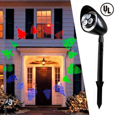 Christmas Festival Newest Version Indoor And outdoor moving Bright LED Landscape Home Motion Projector Light Decoration Lighting Show on Christmas Holiday Party with Stake