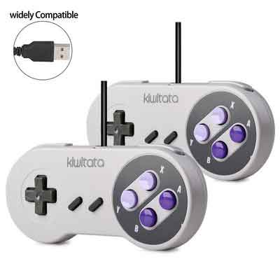 2 Pack SNES Retro USB Super Nintendo Controller