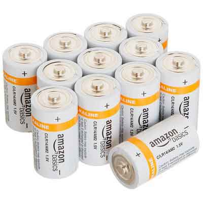 AmazonBasics C Cell Everyday Alkaline Batteries