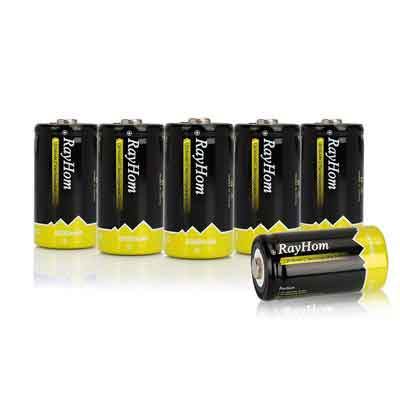 RayHom C Rechargeable Battery 5000mAh Ni-MH High Capacity Battery
