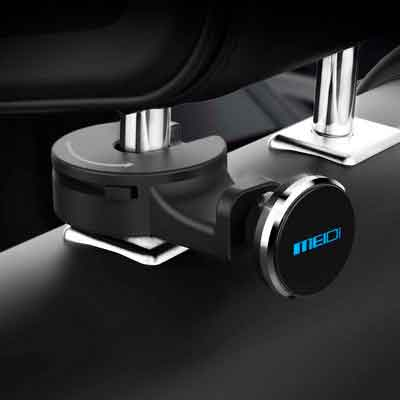 Headrest Mount MEIDI Car Backseat Purse Hanger Hook Universal Tablet Headrest Mount Organizer Magnetic Phone eReader iPad Holder