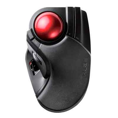 ELECOM M-HT1DRBK Wireless Trackball Mouse - Extra Large Ergonomic Design