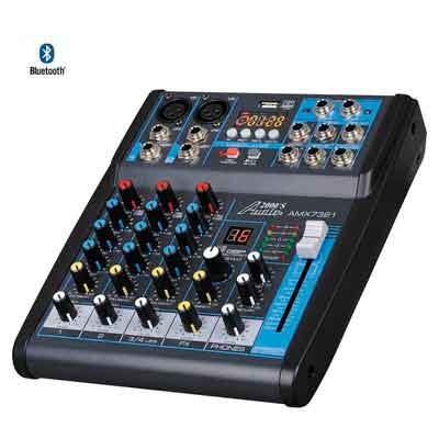 Audio 2000s AMX7321UBT 4-Channel Audio Mixer with USB