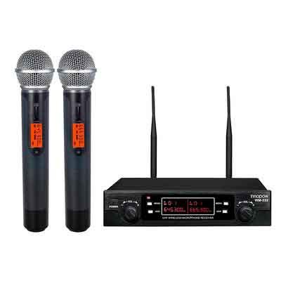 innopow 80-Channel Dual UHF Wireless Microphone System