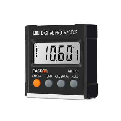 Tacklife MDP01 Classic Digital Magnetic Angle Gauge Level / Bevel Gauge/ Protractor / Angle Finder with Zinc Alloy Material