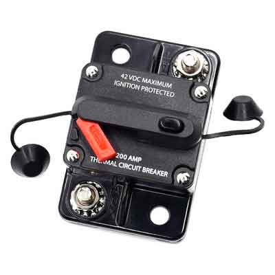 Cllena 200 Amp Circuit Breaker for Car Truck Rv ATV Marine Boat Vehicles / electronic systems