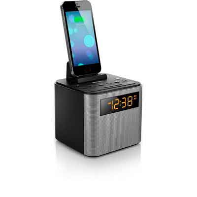 Philips AJT3300/37 Bluetooth Dual Alarm Clock Radio iPhone/Android Speaker Dock Speakerphone Microphone