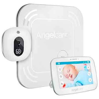 "Angelcare Baby Movement Monitor with 5"" Touchscreen Display and Wireless Sensor Pad"