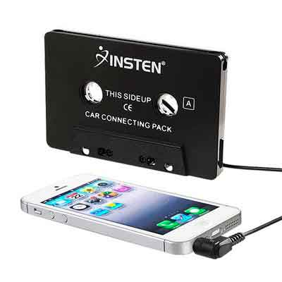 INSTEN 3.5mm Universal Car Audio Cassette Adapter for Smartphones