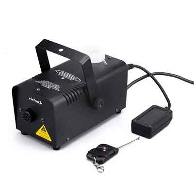 Virhuck 400-Watt Portable Fog Machine with Wireless Remote Control