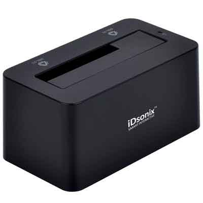 iDsonix Tool Free USB 3.0/2.0 to SATA 2.5/3.5 Inch Hard Drive Docking Station with 3.3 Feet USB 3.0 Cable for HDD/SSD - Black
