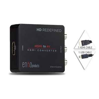 enKo Products Mini Composite HDMI To RCA CVBS AV Converter