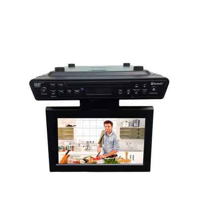ONN Under Counter Bluetooth Kitchen TV/DVD Player 10