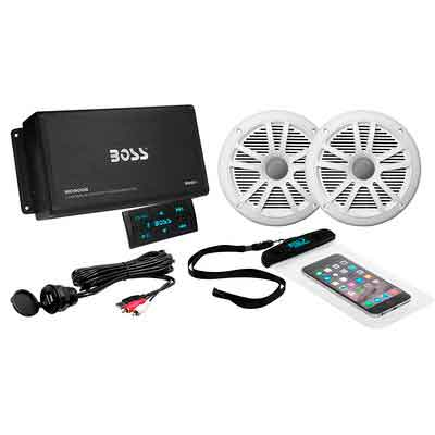 BOSS Audio ASK902B.6 Marine 500 Watt 4 Channel Amplifier / 6.5 Inch Speaker Bluetooth System