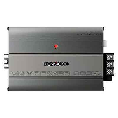 Kenwood KAC-M3001 600W Class D Monoblock Compact Digital Car/ATV/Marine Certified Amplifier
