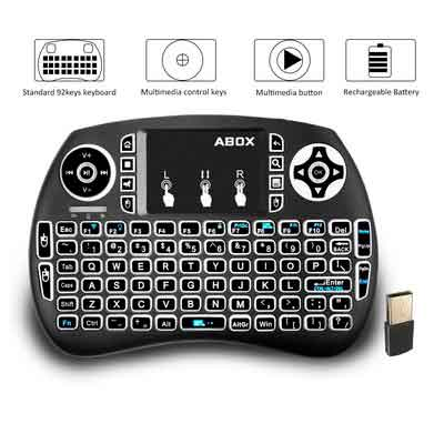 ABOX Backlit Mini Wireless Keyboard