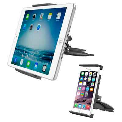 APPS2Car Universal Tablet CD Slot Car Mount Phone Holder Stand for iPad 2017 10.5