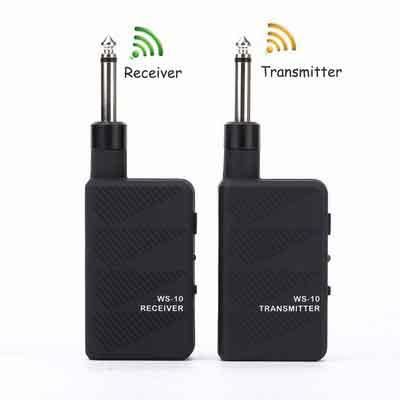 Getaria Black 2.4GHZ Audio Wireless Digital Guitar System - Digital Guitar Transmitter Receiver