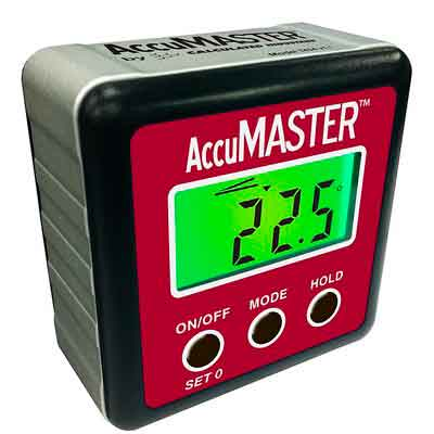 Calculated Industries 7434 AccuMASTER 2-in 1 Magnetic Digital Level and Angle Finder / Inclinometer / Bevel Gauge